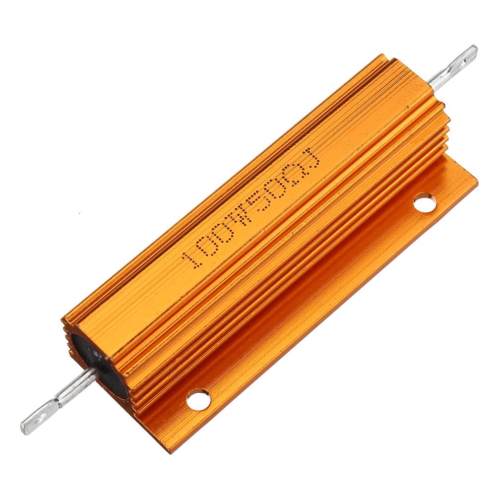 5шт RX24 100 Вт 50R 50RJ Металлический Алюминий Чехол Мощный Резистор Золотой Металлический Корпус Чехол Сопротивление Р - фото 1