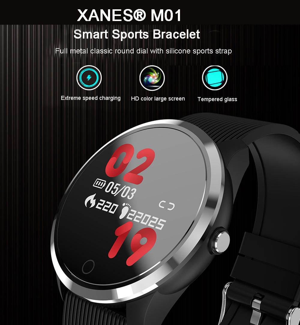 XANES®M011,3-дюймовыйцветнойэкранВодонепроницаемы Smart Watch Find Phone Фитнес Спортивный браслет - фото 1