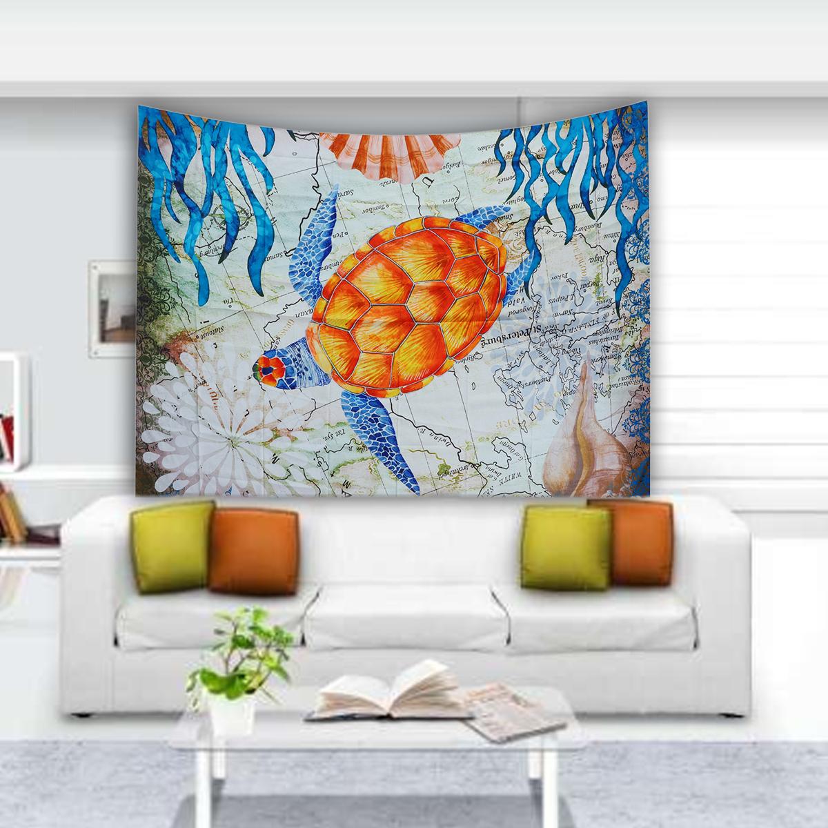 МорскаяЧерепахаПодвеснойГобеленСтеныДома Декоративные Tapete Спальня Одеяло Скатерть Yoga Мат - фото 4