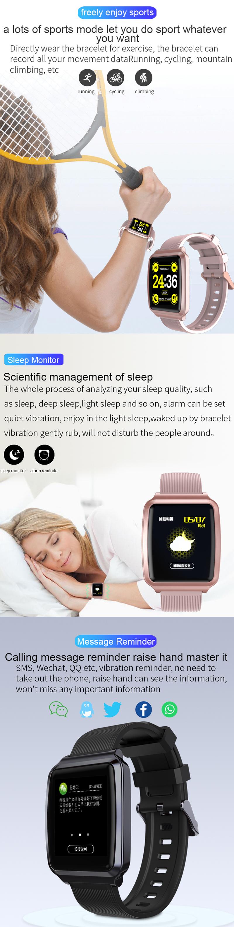 XANES®KY1161,3-дюймовыйсенсорныйэкранIPS Водонепроницаемы Смарт-часы Анти-потерянный Фитнес Спортивный браслет - фото 3