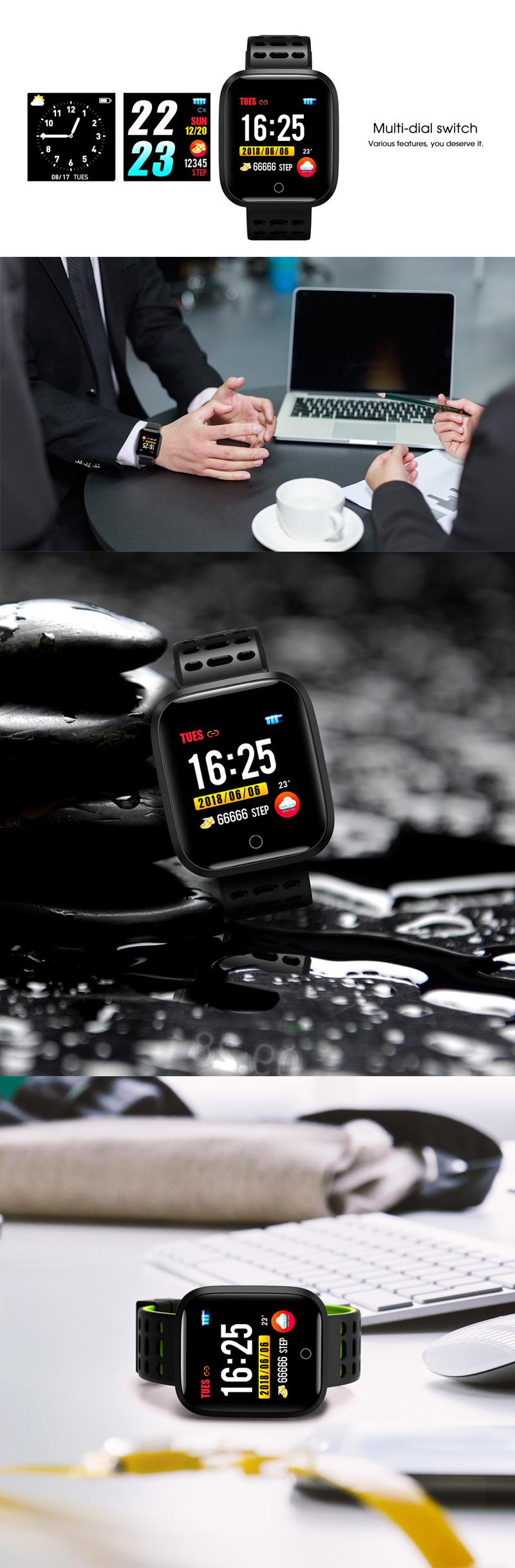 XANESY181,33IPSЦветной сенсорный экран Водонепроницаемы Умные часы Сердце Оценить Монитор Фитнес Умный браслет - фото 3