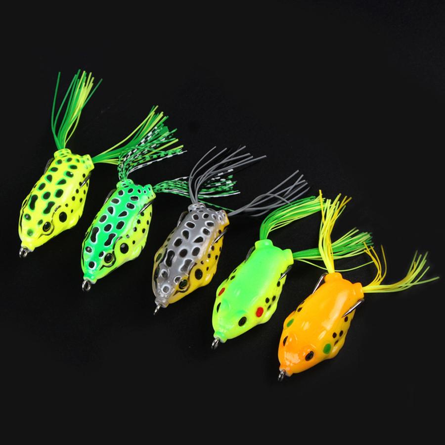 5Pcs/Set14g11cmПластик Soft Двойной Крюк Лягушка Lure Искусственный верхушечный воблер Рыбалка Приманка - фото 6