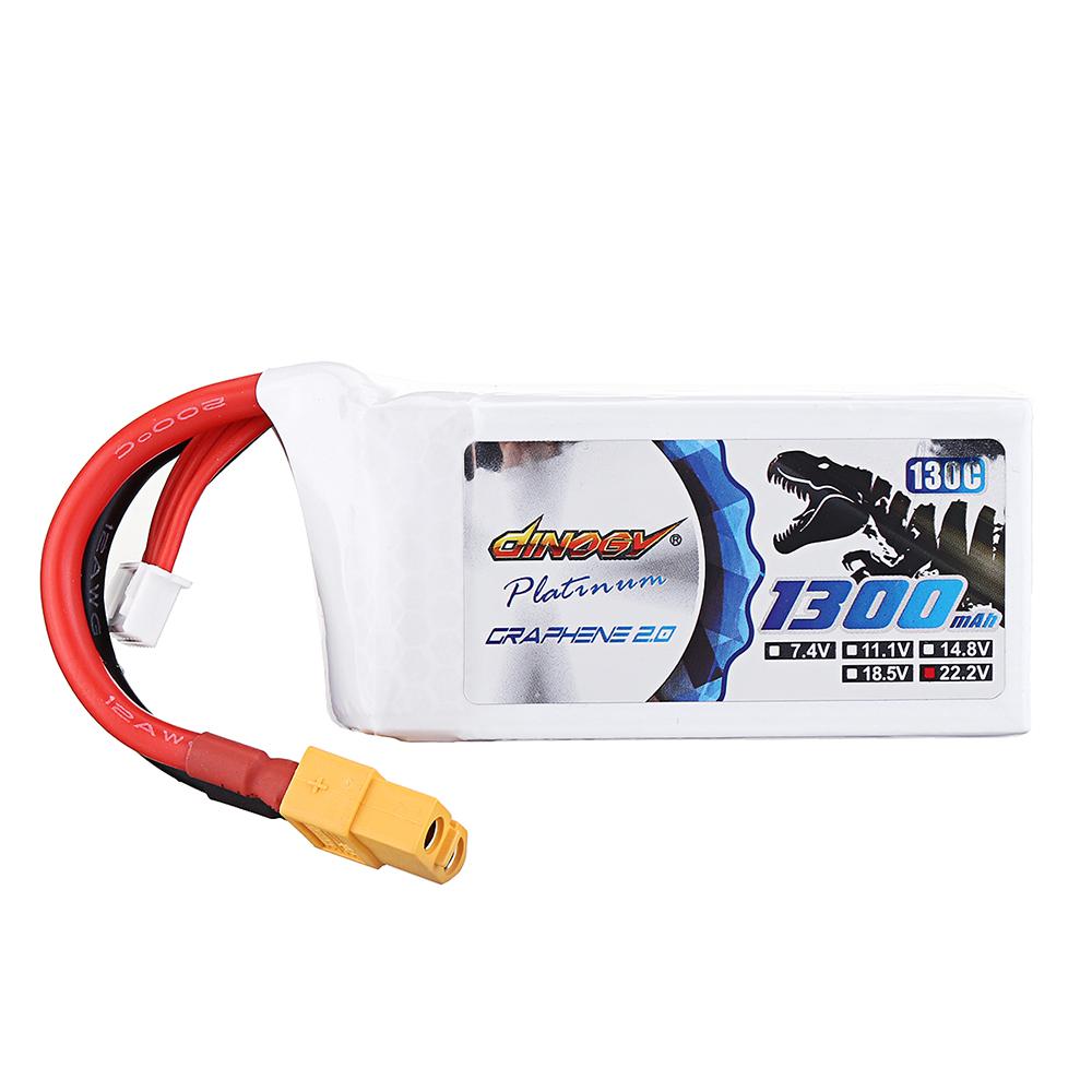 DINOGY ULTRA GRAPHENE 2.0 22.2V 1300mAh 130C 6S Lipo Батарея XT60 Разъем для RC Racing Дрон - фото 2