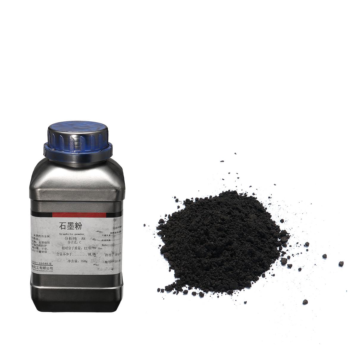350 г Порошок черного графита 5 Микрона ультра тонкий 99,9% Чистый Военный Сорт - фото 2