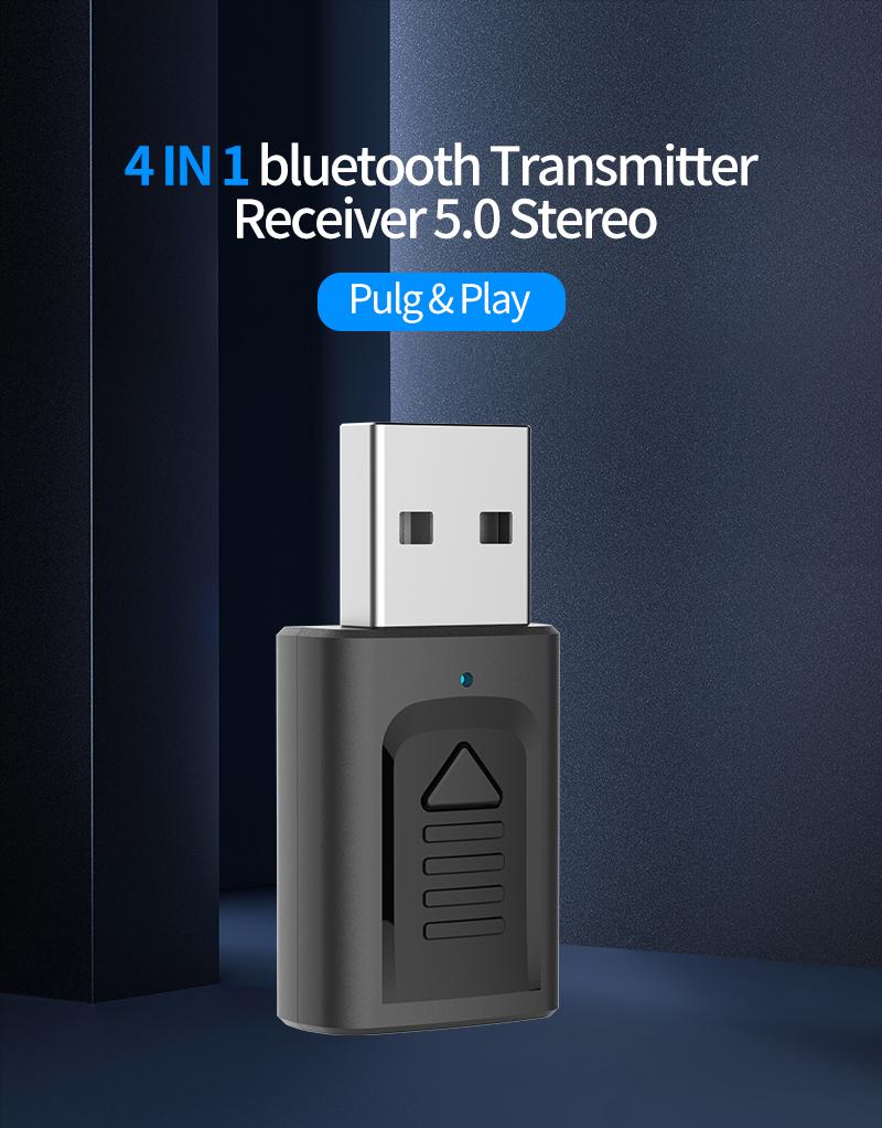 IMars M135 Bluetooth 5.0 4-в-1 Аудио Беспроводной Приемник Передатчик Стерео AUX RCA Разъем USB 3,5 мм для ТВ ПК Авто Ад - фото 1