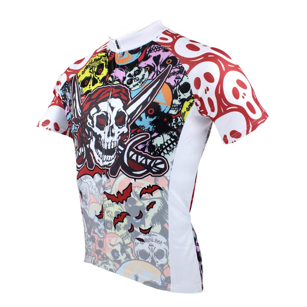 Мужские рубашки для велоспорта с короткими рукавами и молнией - фото 2