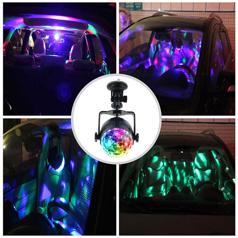 LED RGB Colorful Авто Музыка Свет Звук Атмосфера Этап Лампа с Дистанционный Голосовое управление для DJ KTV Party - фото 9