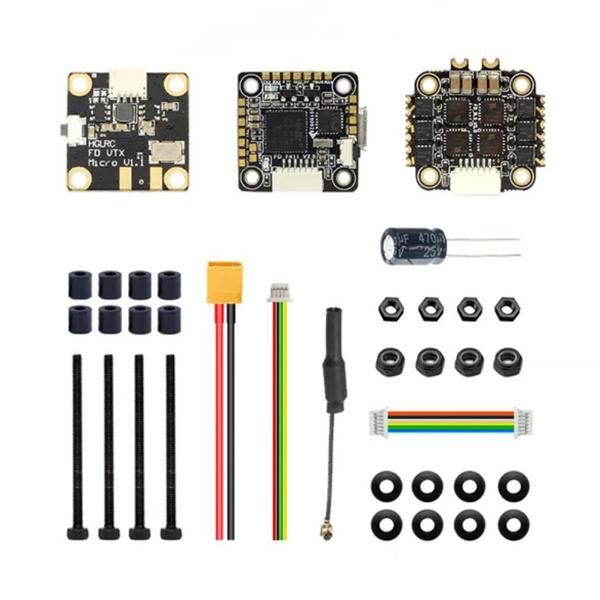 Контроллер полета HGLRC FD413-VTX 16x16 F411 и 13A 2-4S Blheli_S 4 In 1 Бесколлекторный ESC 25 ~ 400 мВт стек VTX для ра - фото 3
