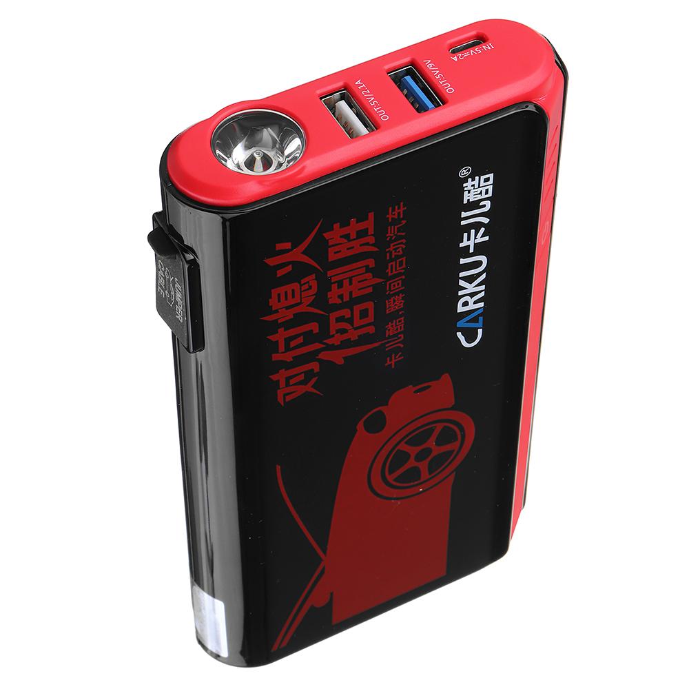 CARKUX3ПортативныйАвтоJumpStarter 12V 9000mAh Emergency Батарея Бустер с QC 3.0 LED Фонарик от Xiaomi Youpin - фото 4