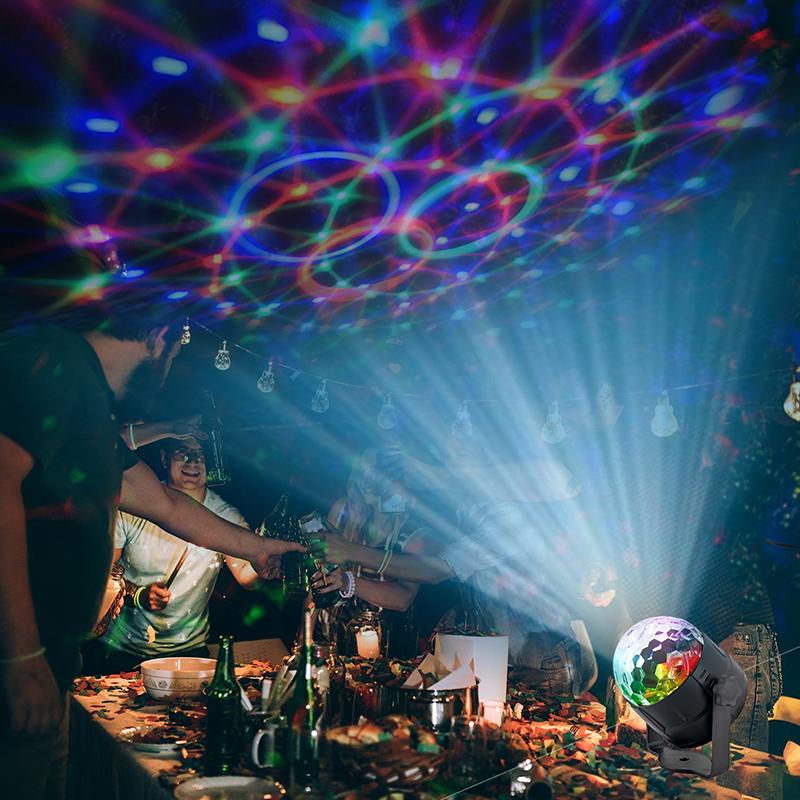 LED RGB Colorful Авто Музыка Свет Звук Атмосфера Этап Лампа с Дистанционный Голосовое управление для DJ KTV Party - фото 7