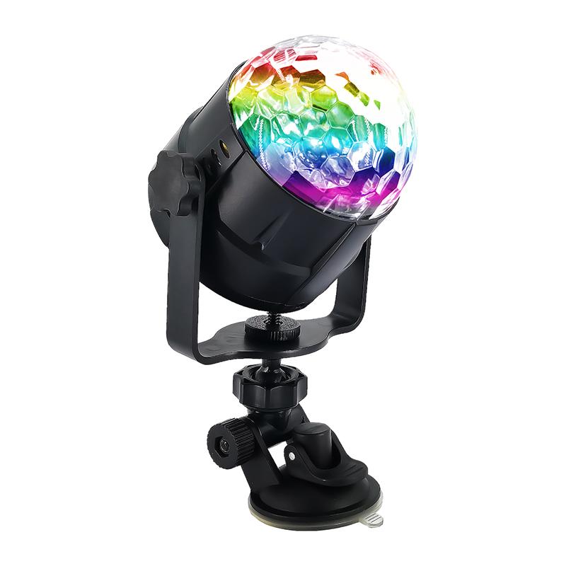 LED RGB Colorful Авто Музыка Свет Звук Атмосфера Этап Лампа с Дистанционный Голосовое управление для DJ KTV Party - фото 2