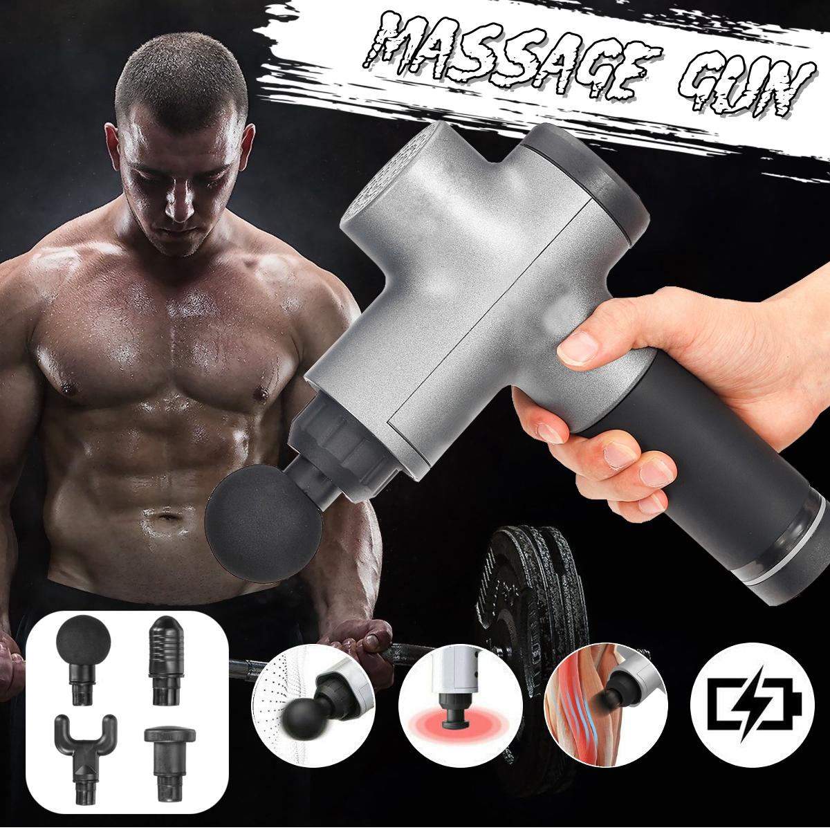 1500 мАч мышечной релаксации 3 скорости электрический массажер ударный массаж глубокий массажер ткани беспроводное устро - фото 5