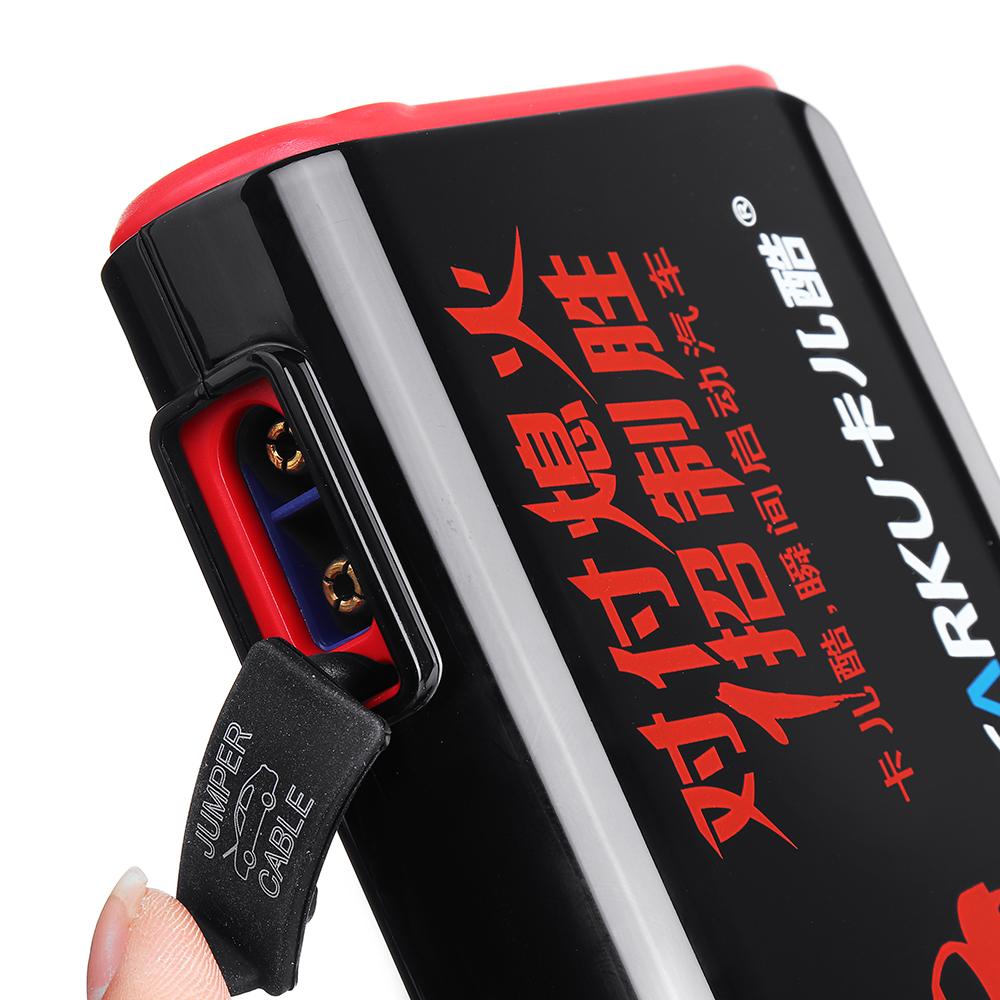 CARKUX3ПортативныйАвтоJumpStarter 12V 9000mAh Emergency Батарея Бустер с QC 3.0 LED Фонарик от Xiaomi Youpin - фото 8
