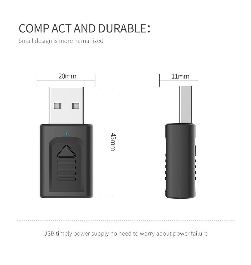IMars M135 Bluetooth 5.0 4-в-1 Аудио Беспроводной Приемник Передатчик Стерео AUX RCA Разъем USB 3,5 мм для ТВ ПК Авто Ад - фото 7