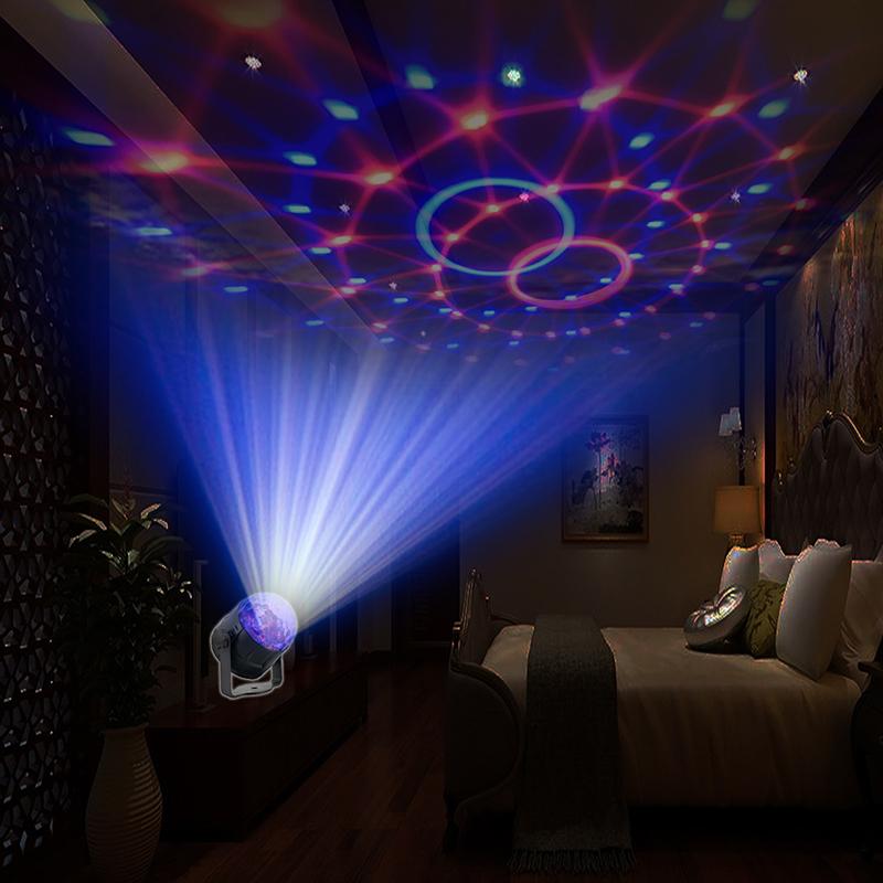 LED RGB Colorful Авто Музыка Свет Звук Атмосфера Этап Лампа с Дистанционный Голосовое управление для DJ KTV Party - фото 8
