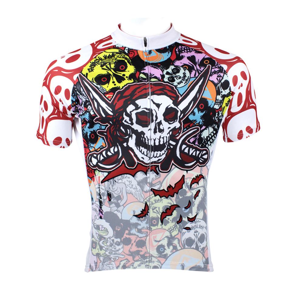 Мужские рубашки для велоспорта с короткими рукавами и молнией - фото 1