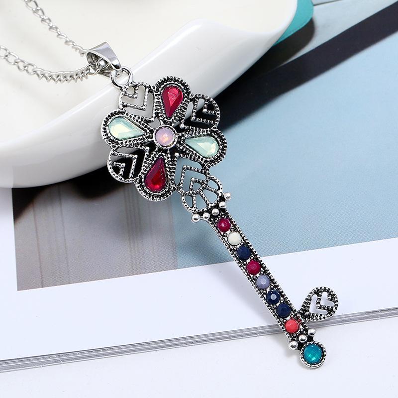 Новые Ювелирные Изделия Ретро Простой Ключ Ожерелье - фото 5