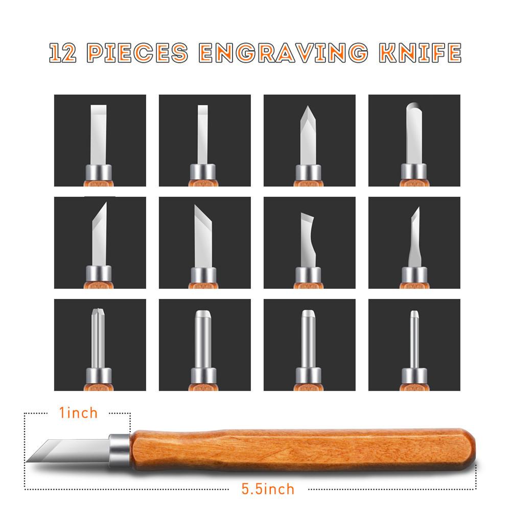 12шт резьба по дереву гравировка резьба по дереву Инструмент с брусок для ручной работы DIY Art Craft Набор Набор - фото d58a418b-8751-4326-ace0-bd3f8b6199b7.jpg