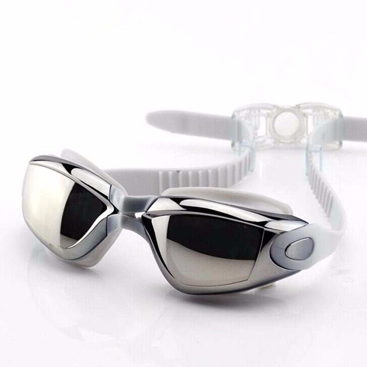 CAMTOA Anti-fog Водонепроницаемы Очки для плавания Очки Для взрослых Женское Мужчины Серебро - фото 3