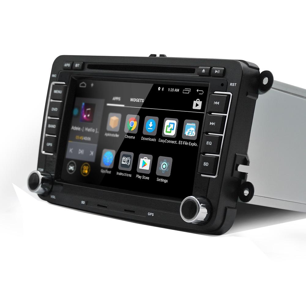 7 дюймов 2 DIN для Android Авто стерео DVD Радио плеер Quad Core 1G + 16G сенсорный экран GPS Wifi Bluetooth для VW Pass - фото 3
