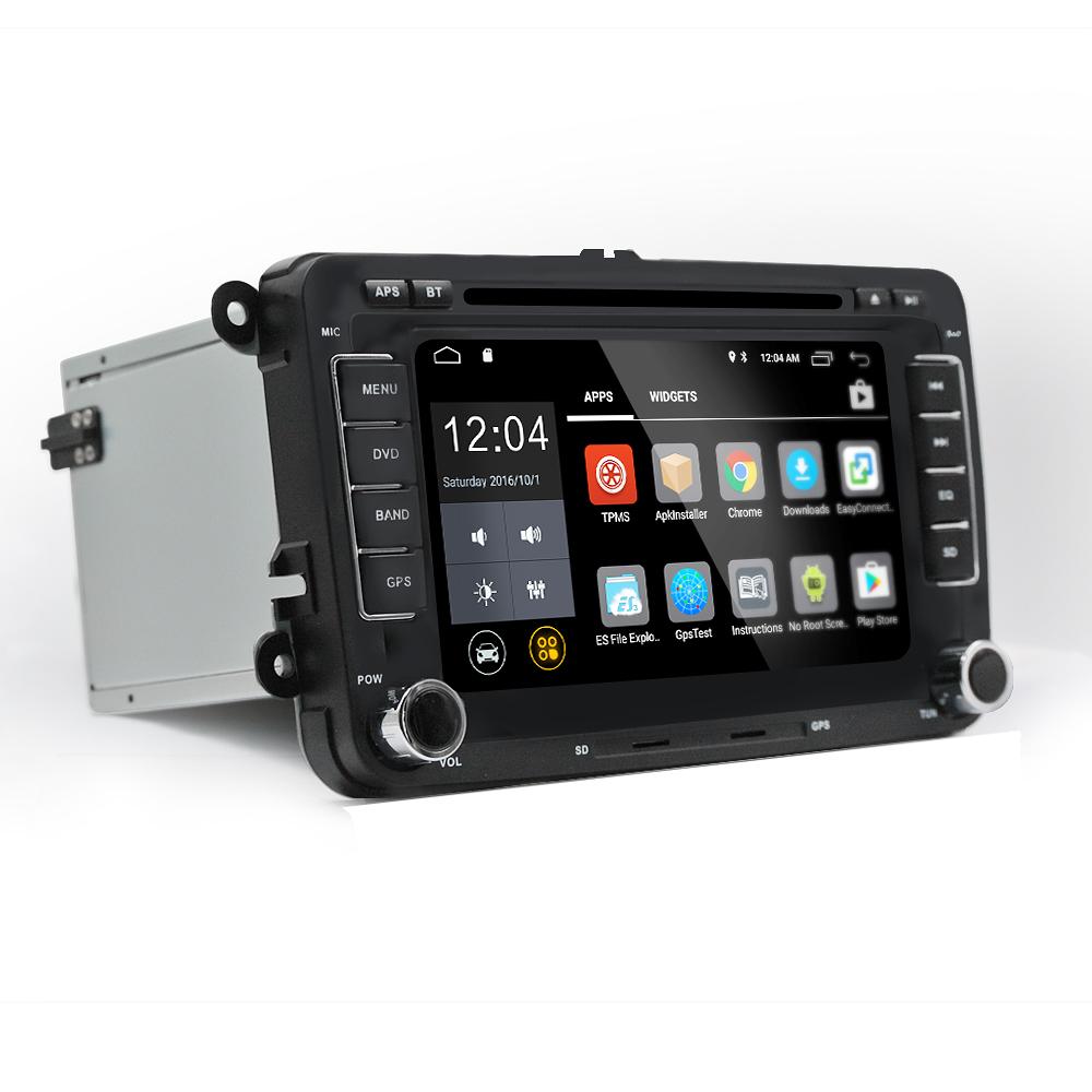 7 дюймов 2 DIN для Android Авто стерео DVD Радио плеер Quad Core 1G + 16G сенсорный экран GPS Wifi Bluetooth для VW Pass - фото 2