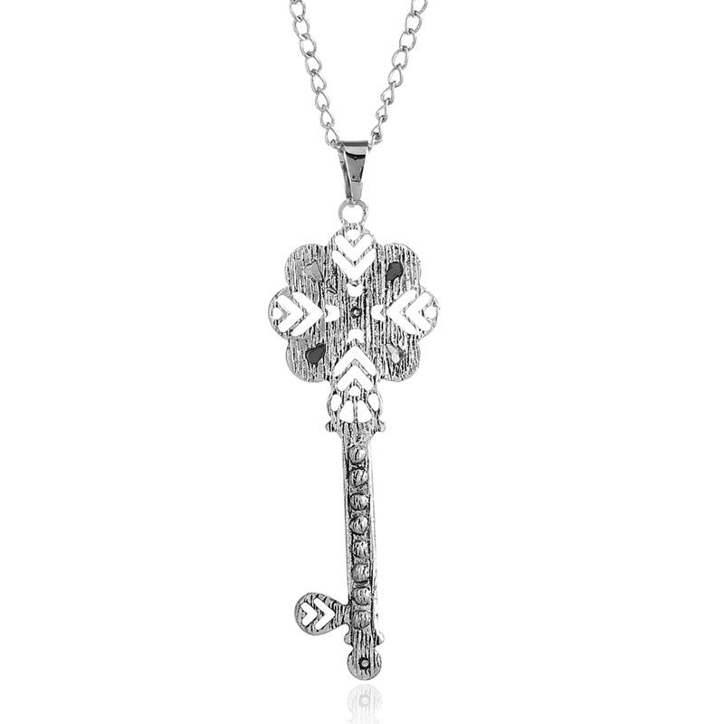 Новые Ювелирные Изделия Ретро Простой Ключ Ожерелье - фото 3