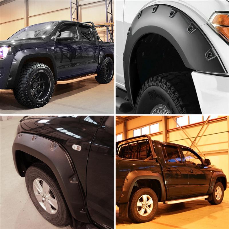 Гладкий черный ABS Широкий корпус арок для арок для VW Amarok 10-17 - фото 7