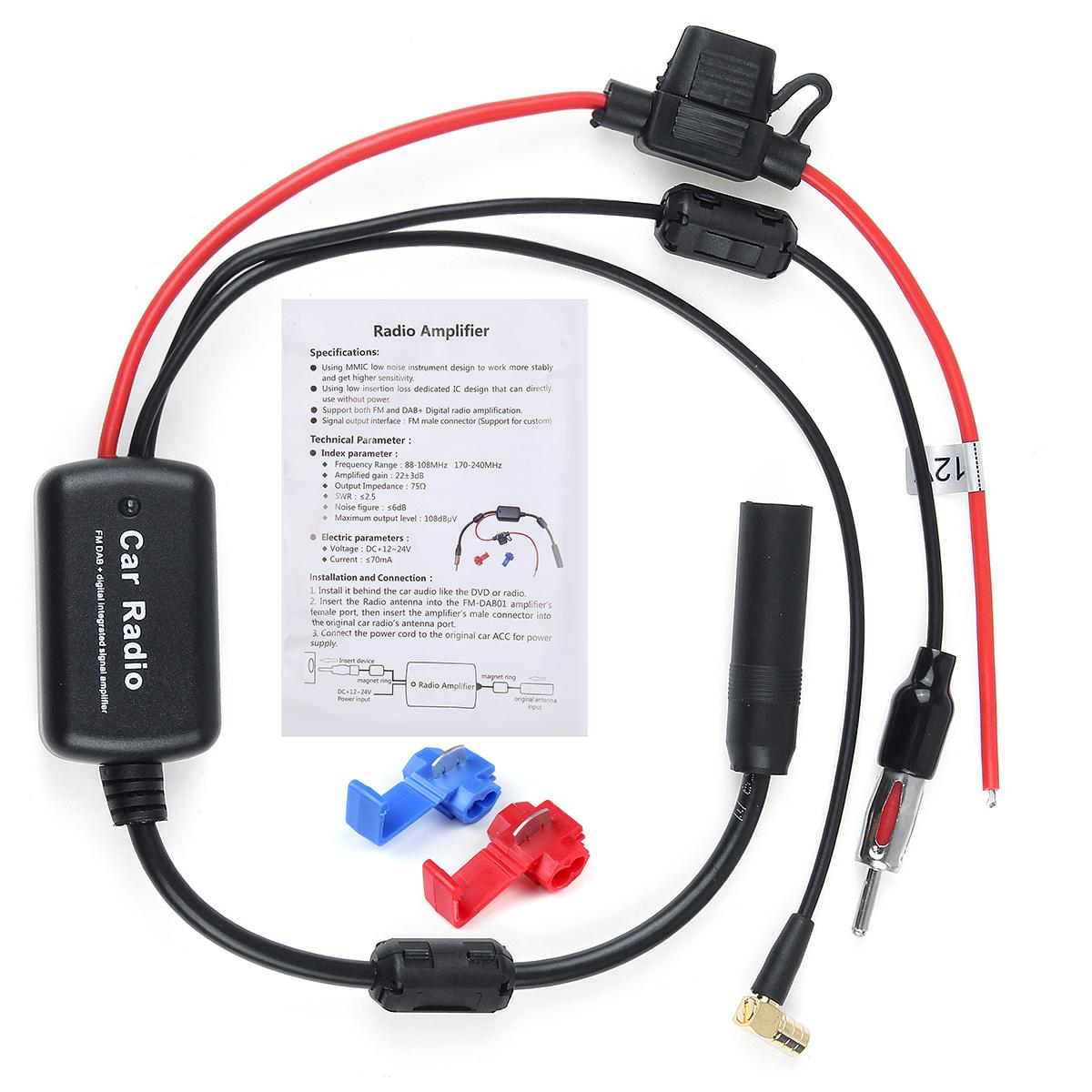 Универсальный кабель DAB + FM Авто Антенна Разветвитель антенны Цифровой Радио Усилитель - фото 8