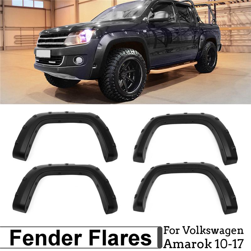 Гладкий черный ABS Широкий корпус арок для арок для VW Amarok 10-17 - фото 8