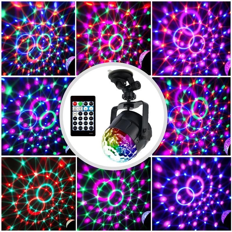 LED RGB Colorful Авто Музыка Свет Звук Атмосфера Этап Лампа с Дистанционный Голосовое управление для DJ KTV Party - фото 6