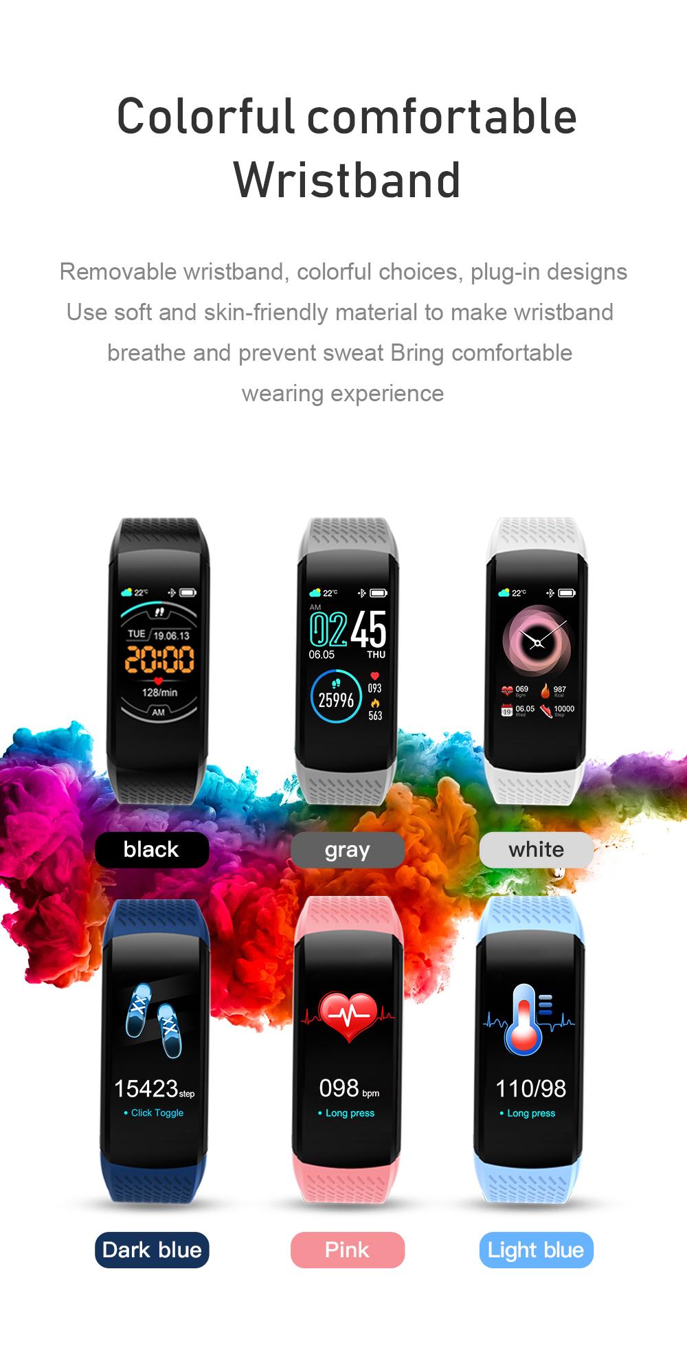 XANES C8 1.08  Водонепроницаемы Smart Watch Call Вибрация Спорт Фитнес Браслет Mi Band - фото 5