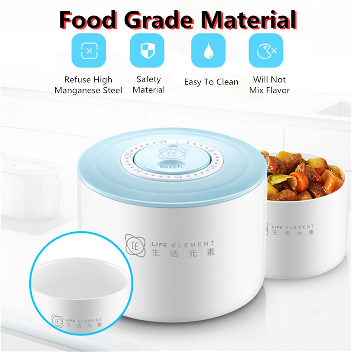 1.5L 2 слоя электрическое отопление плита обед Коробка Керамический контейнер риса продовольствия теплый Нагреватель - фото 8