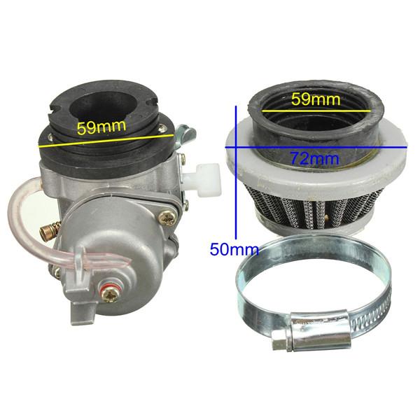 Карбюратор карбюратор+воздушный фильтр стека 47cc 49см мини квадроцикл мото Байк - фото 2