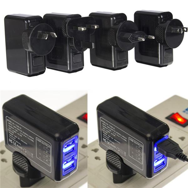 4 Порт USB многофункциональный переменного тока 5.0V 2.1a адаптера US / EU / UK / AU плагина зарядное устройство стены - фото 1