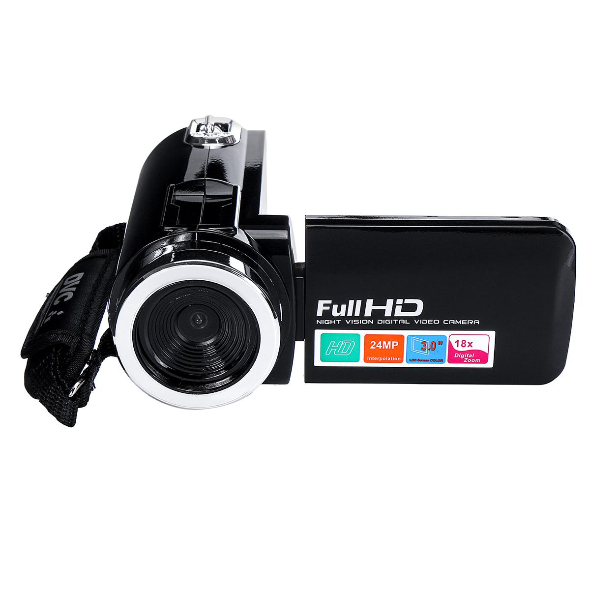 4K Full HD 1080P 24MP 18X Zoom 3 дюймов LCD Цифровая видеокамера Video DV камера 5.0MP CMOS Датчик для видеоблогов YouTu - фото fd63a5e3-479a-432d-a5d3-058cafb16b2e.jpg