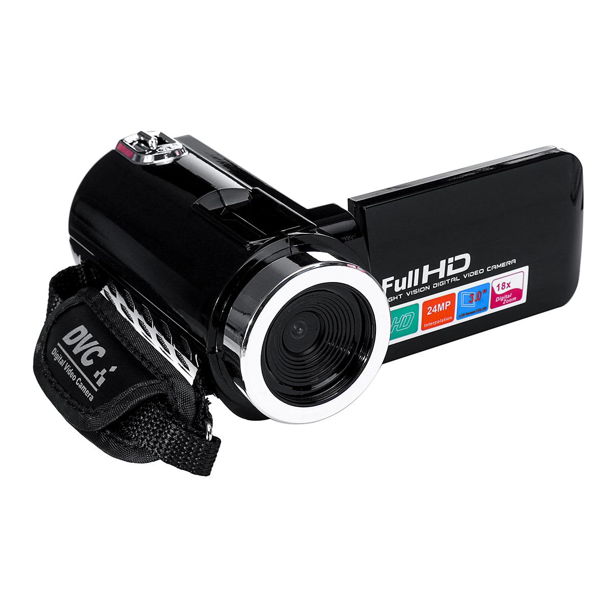4K Full HD 1080P 24MP 18X Zoom 3 дюймов LCD Цифровая видеокамера Video DV камера 5.0MP CMOS Датчик для видеоблогов YouTu - фото 12cbccca-34bb-4b76-802f-9d8a11ca1160.jpg