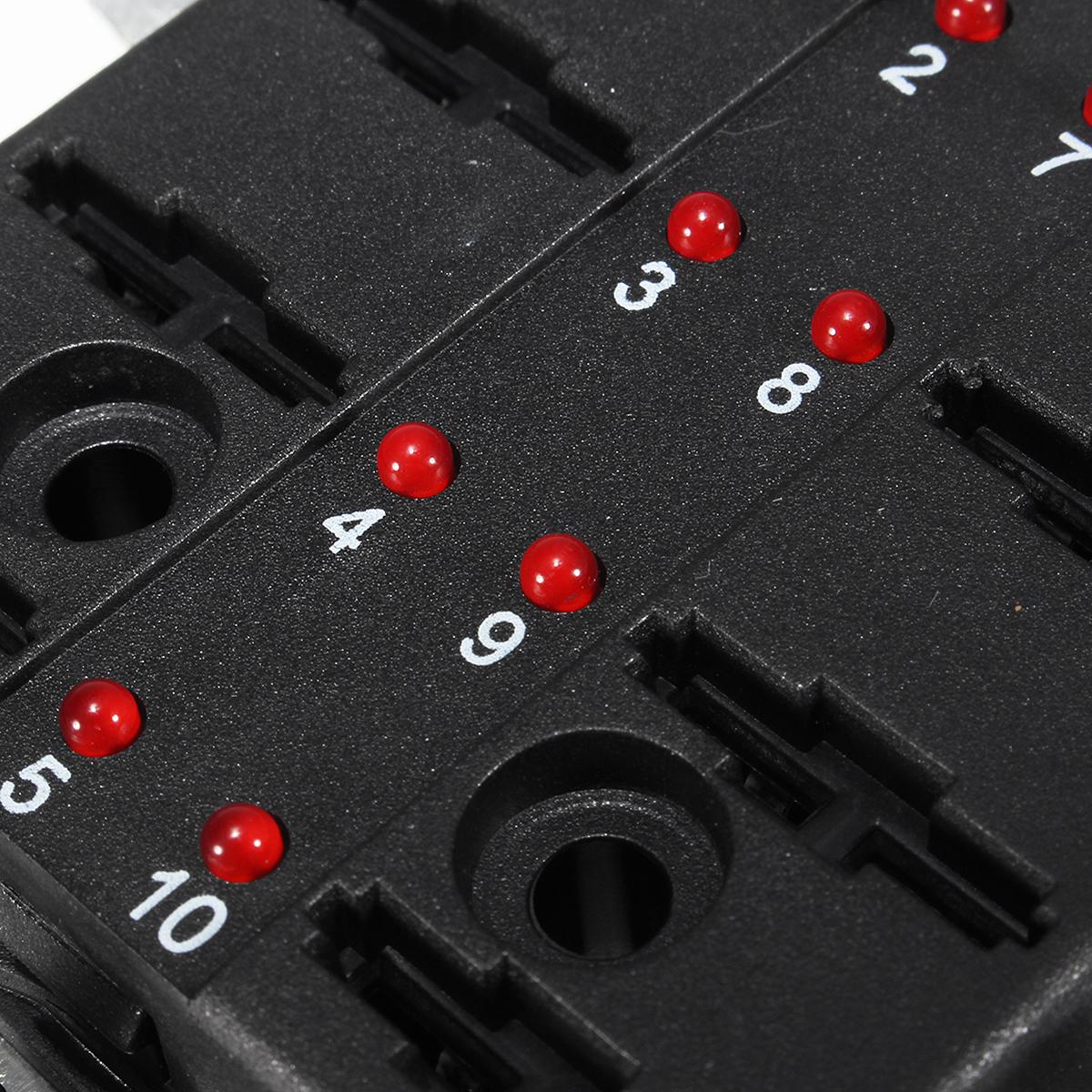 12V-32V 10 Way Blade Fuse Коннектор Держатель Коробка 5-30A с LED Предупредительный световой сигнал Набор Набор для Авто - фото f270dc87-f7bb-4e89-8d39-6823a4c9ab86.JPG