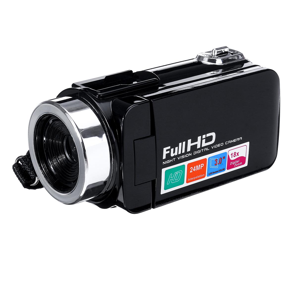 4K Full HD 1080P 24MP 18X Zoom 3 дюймов LCD Цифровая видеокамера Video DV камера 5.0MP CMOS Датчик для видеоблогов YouTu - фото 0b053773-f8e9-4eff-84c7-295c2739cd12.jpg