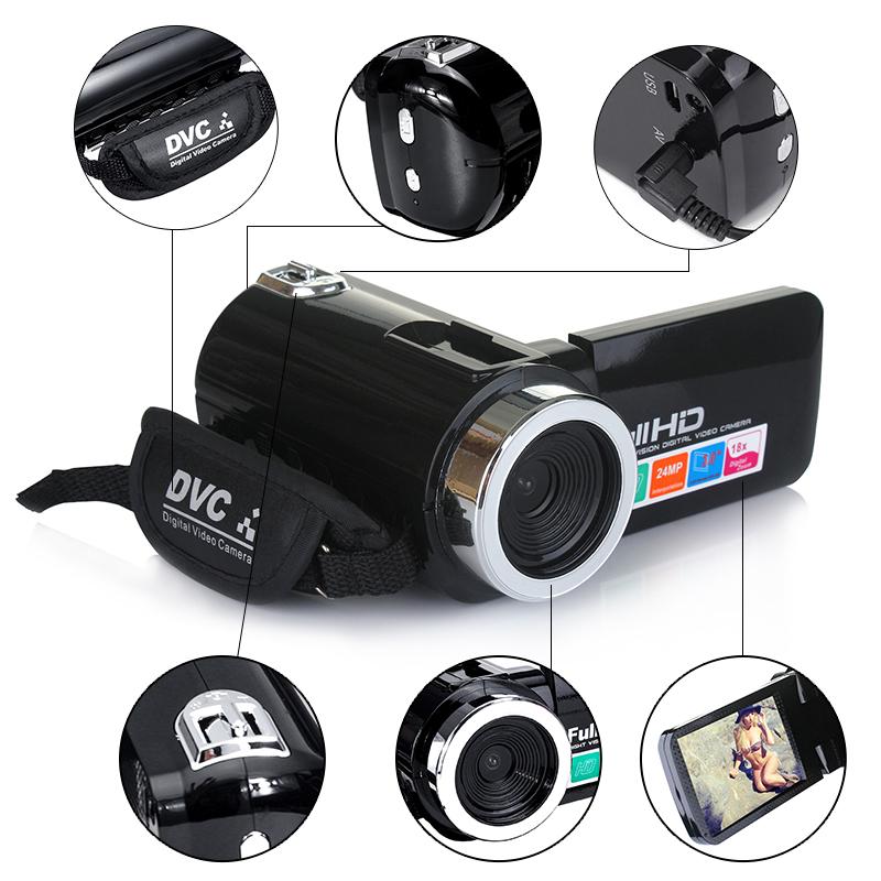 4K Full HD 1080P 24MP 18X Zoom 3 дюймов LCD Цифровая видеокамера Video DV камера 5.0MP CMOS Датчик для видеоблогов YouTu - фото 2cf7ddc5-1de7-4189-84a7-7619fd7c03c3.jpg